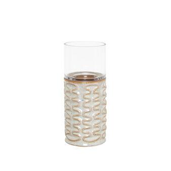 Antivento in ceramica e vetro con decoro onde
