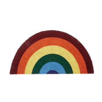 Rainbow coconut doormat