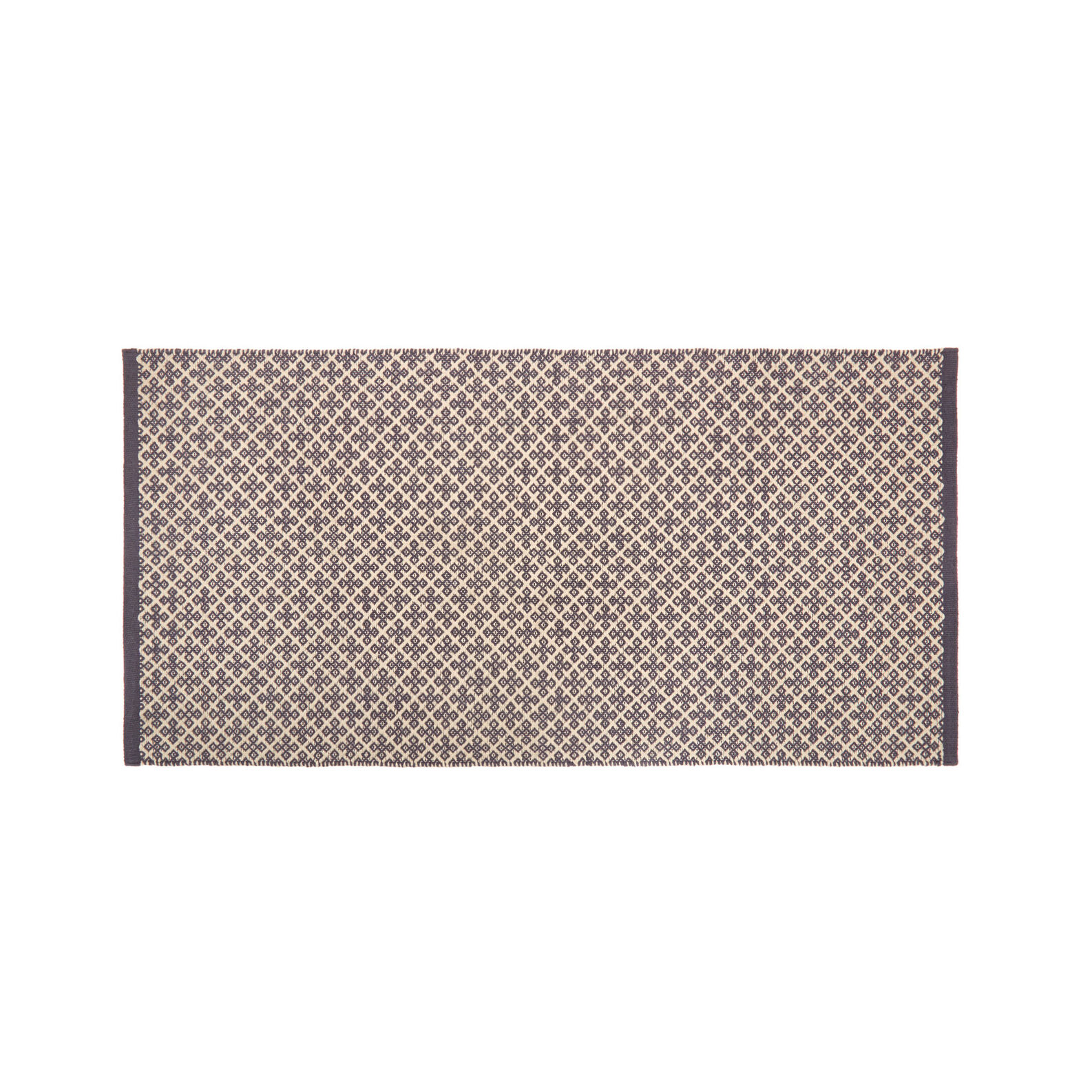 Cotton kitchen mat with jacquard weave