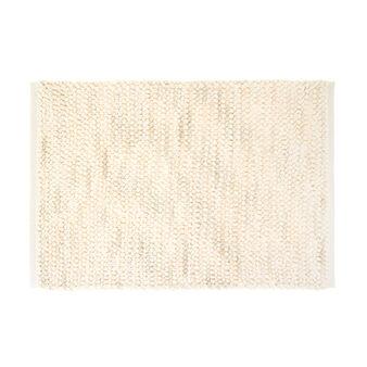 Cotton blend knotted bath mat