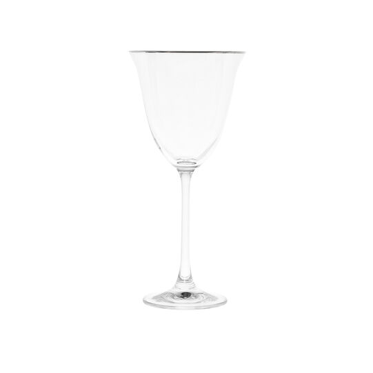 Water goblet with platinum line