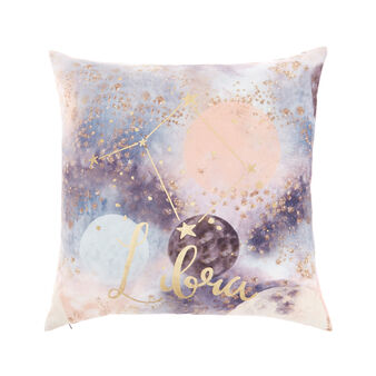 Cushion cover with Libra print 45x45cm