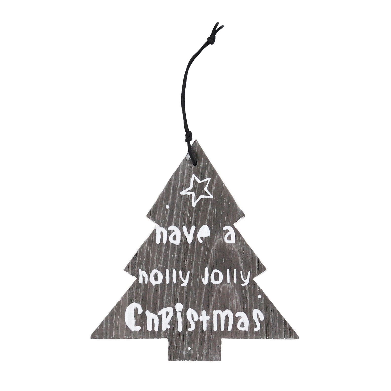 Wooden Christmas tree with lettering
