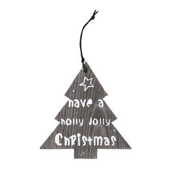 Albero di Natale legno con lettering