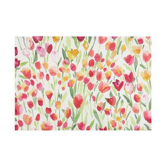 Tovaglietta puro cotone stampa tulipani