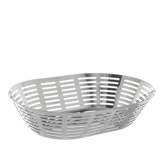 Oval stainless steel basket