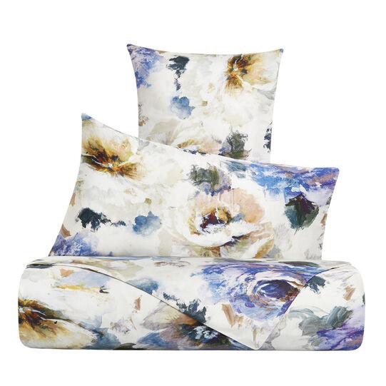 Cotton satin duvet cover set with floral pattern