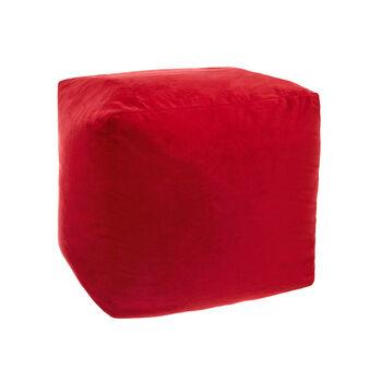 Solid colour velvet pouf