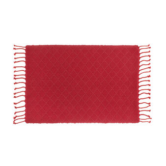 100% cotton table mat with geometric weave