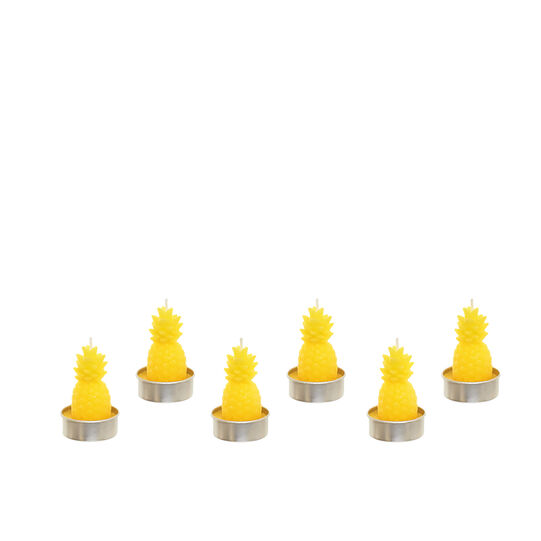 Set 6 tealight ananas giallo