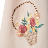 100% cotton tea cloth with flowers embroidery