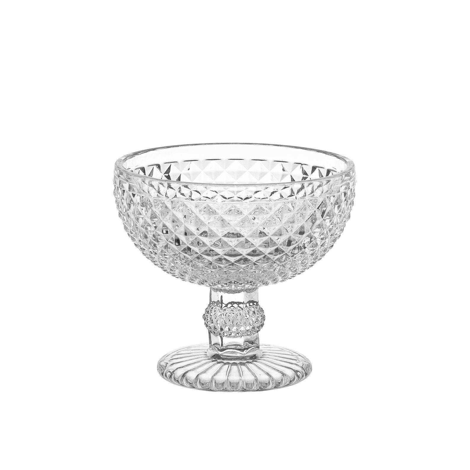 Small faceted glass bowl