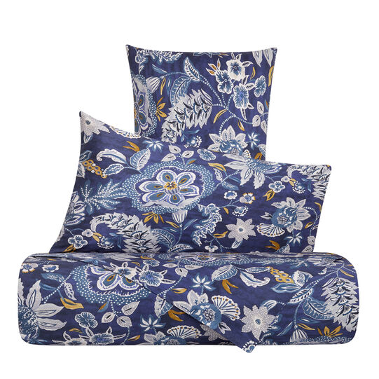 Cotton percale bed linen set with flowers pattern