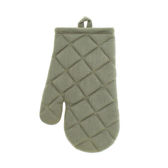 Kitchen mitt in 100% herringbone cotton