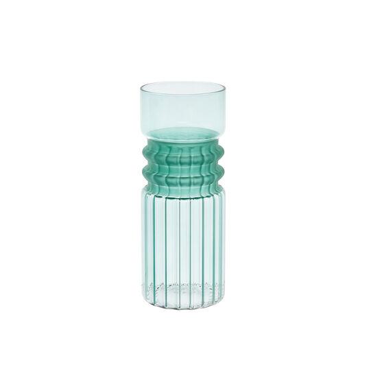 Hand-finished, ring glass vase
