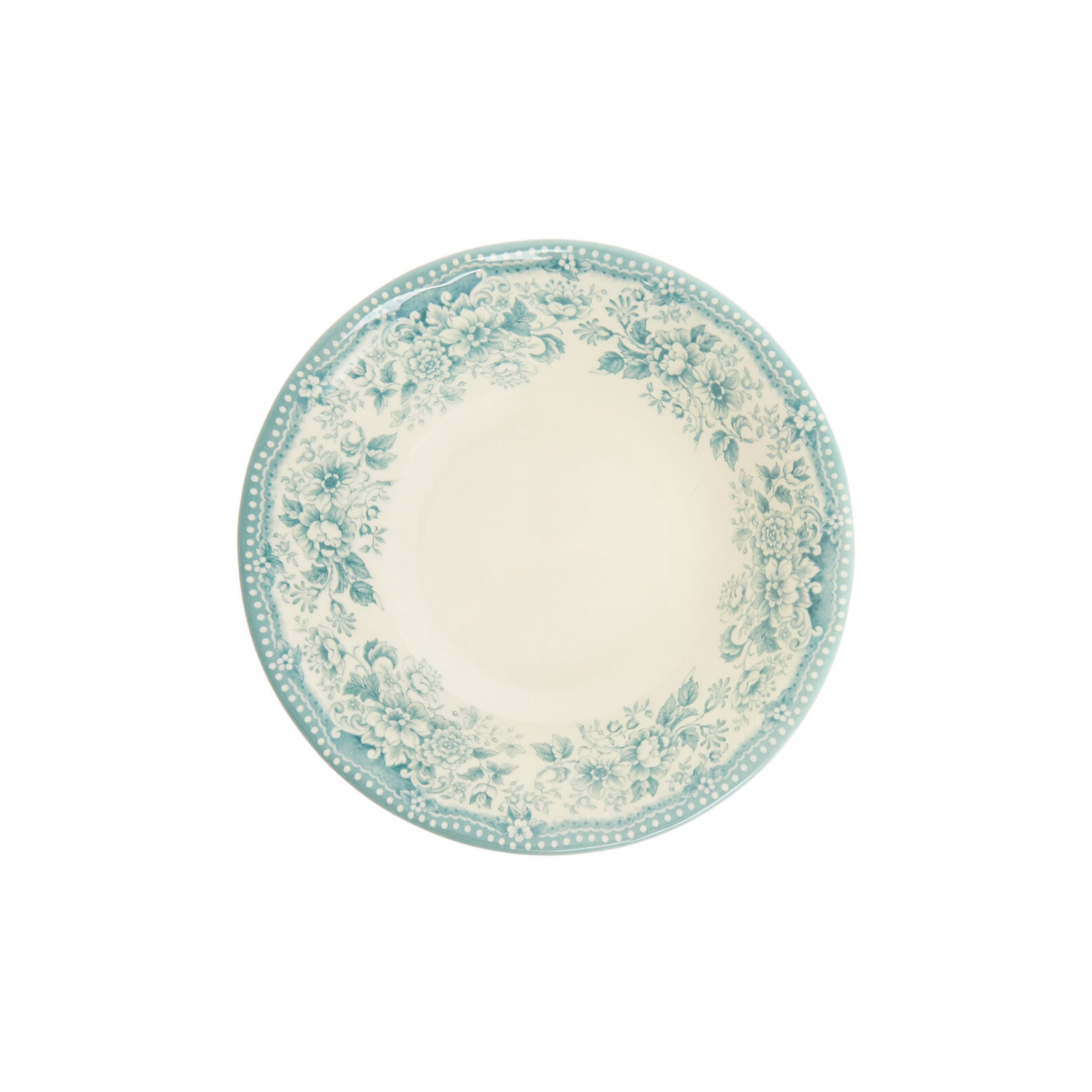 Coppetta ceramica decoro roselline
