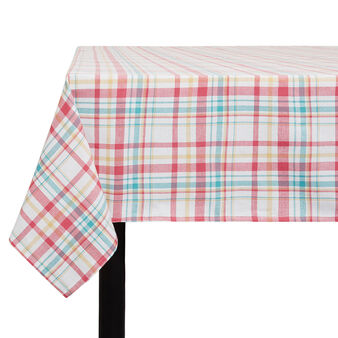 Cotton twill tablecloth with Scottish design