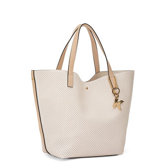 Shopping bag grace tessuto a buchini Koan