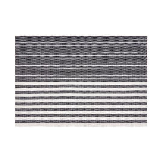 Striped PVC table mat