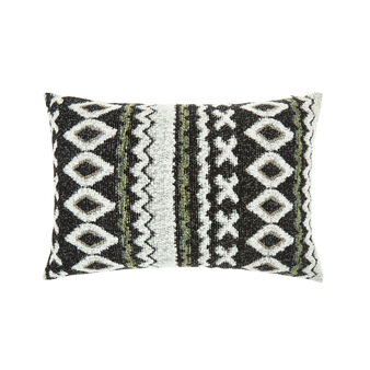 Cushion with jacquard ethnic motif (35x55cm)