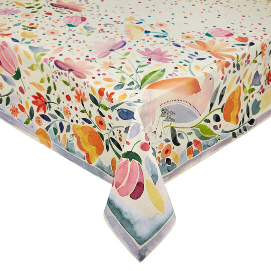 100% cotton tablecloth with Easter print