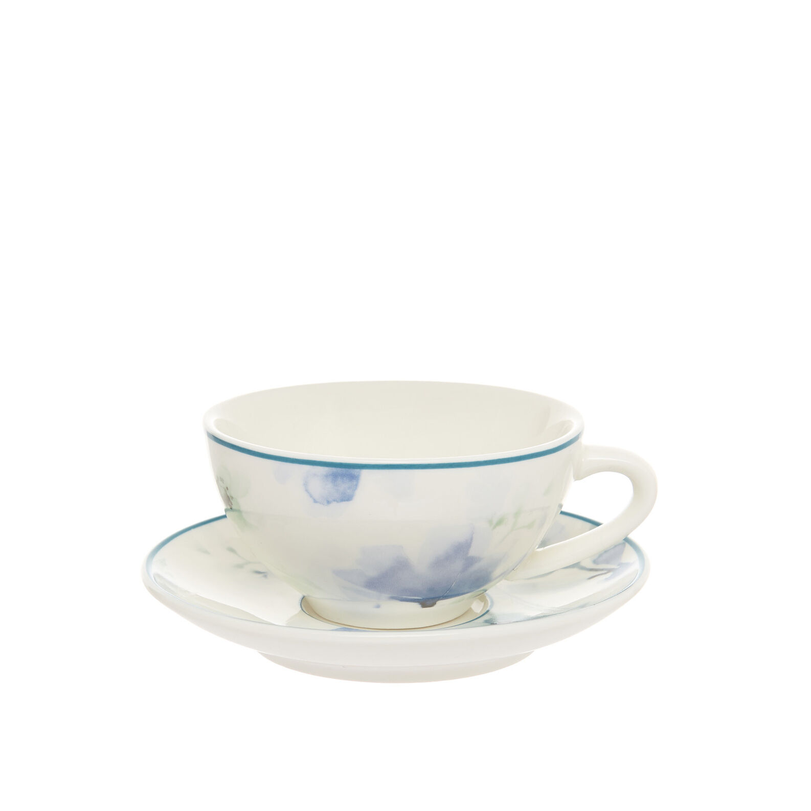 Coffee cup in new bone China with floral decoration
