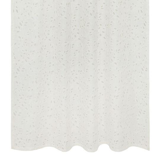 Sangallo linen curtain with hidden loops
