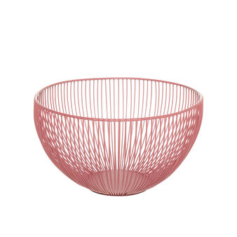 Basket in enamelled iron wire