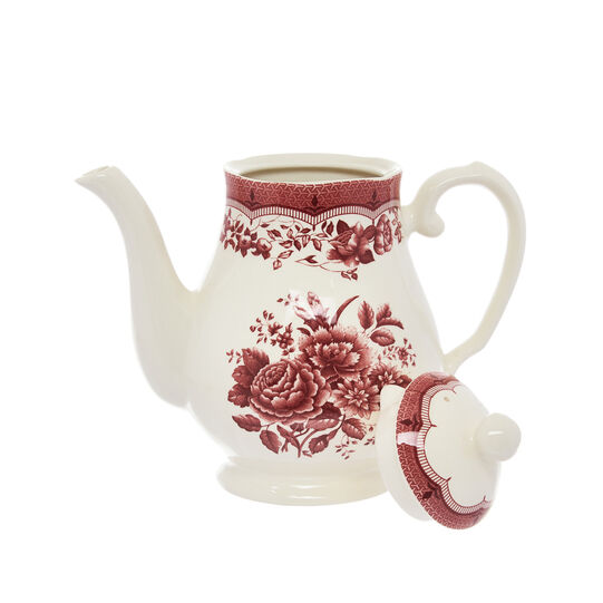 Teiera in ceramica decoro floreale Victoria