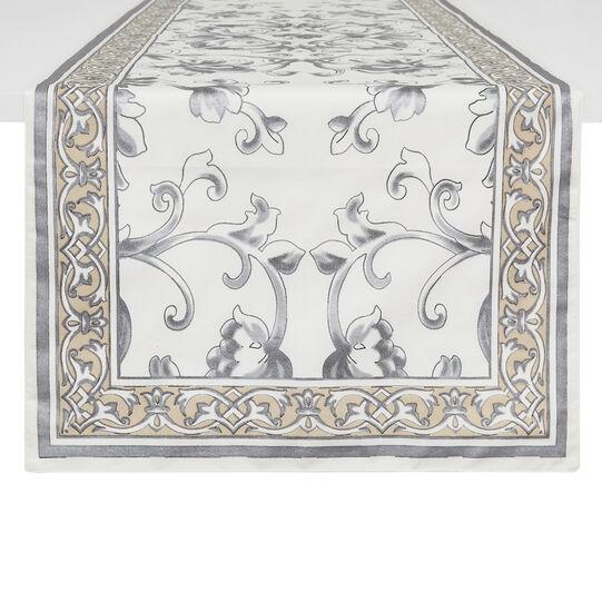 Runner puro cotone stampa ornamentale