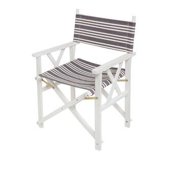 Sedia regista in cotone e legno Beach