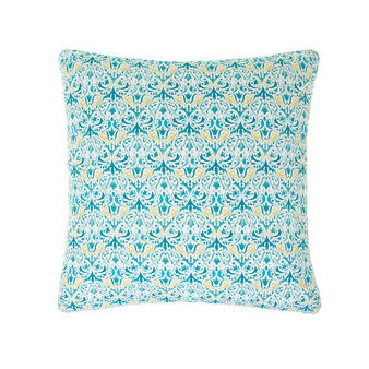 Multi-coloured cushion in cotton percale