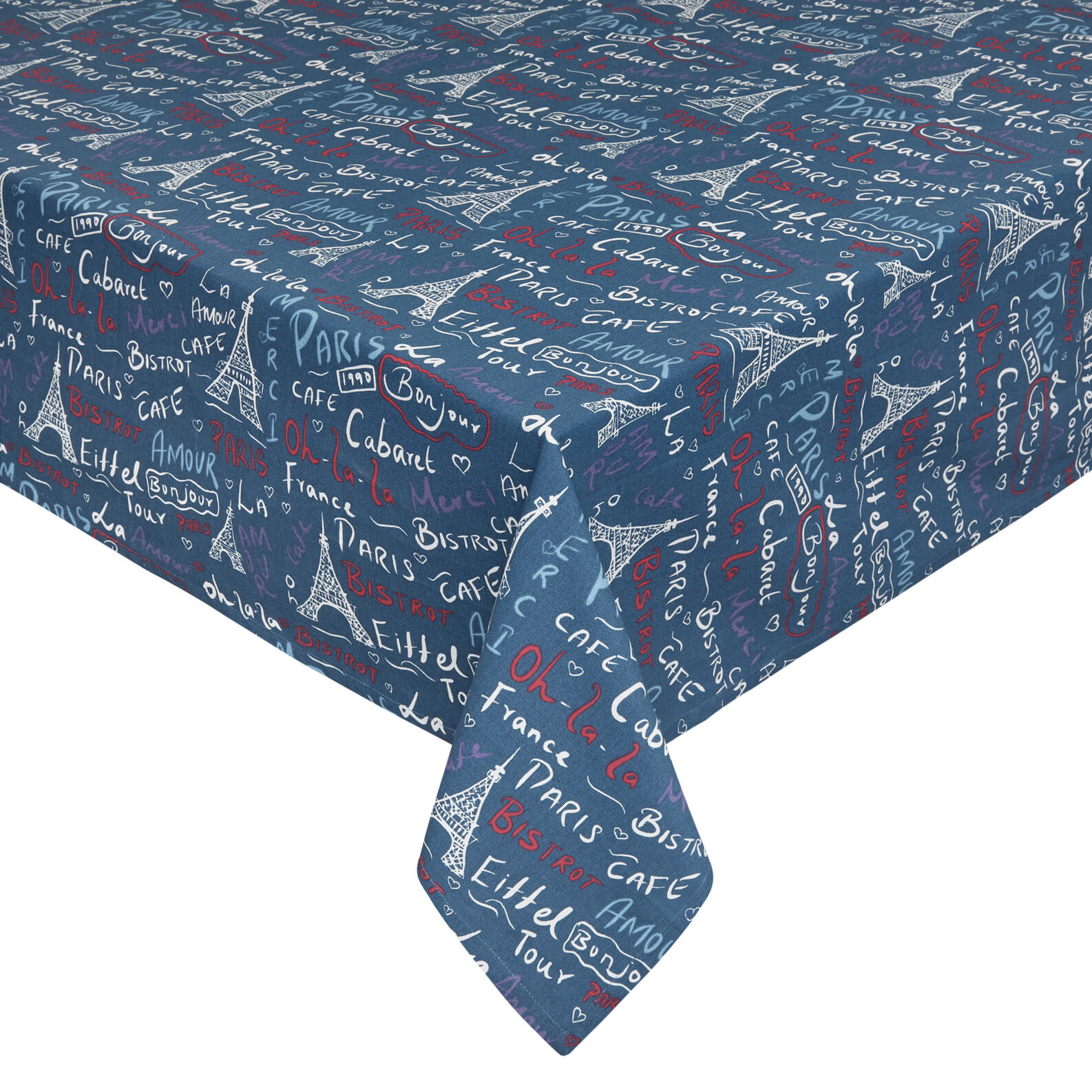 100% cotton water-repellent tablecloth with Paris print