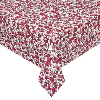 100% cotton tablecloth with floral print