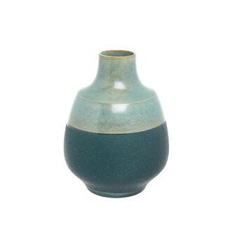 Portuguese ceramic hand-crafted vase with double finish
