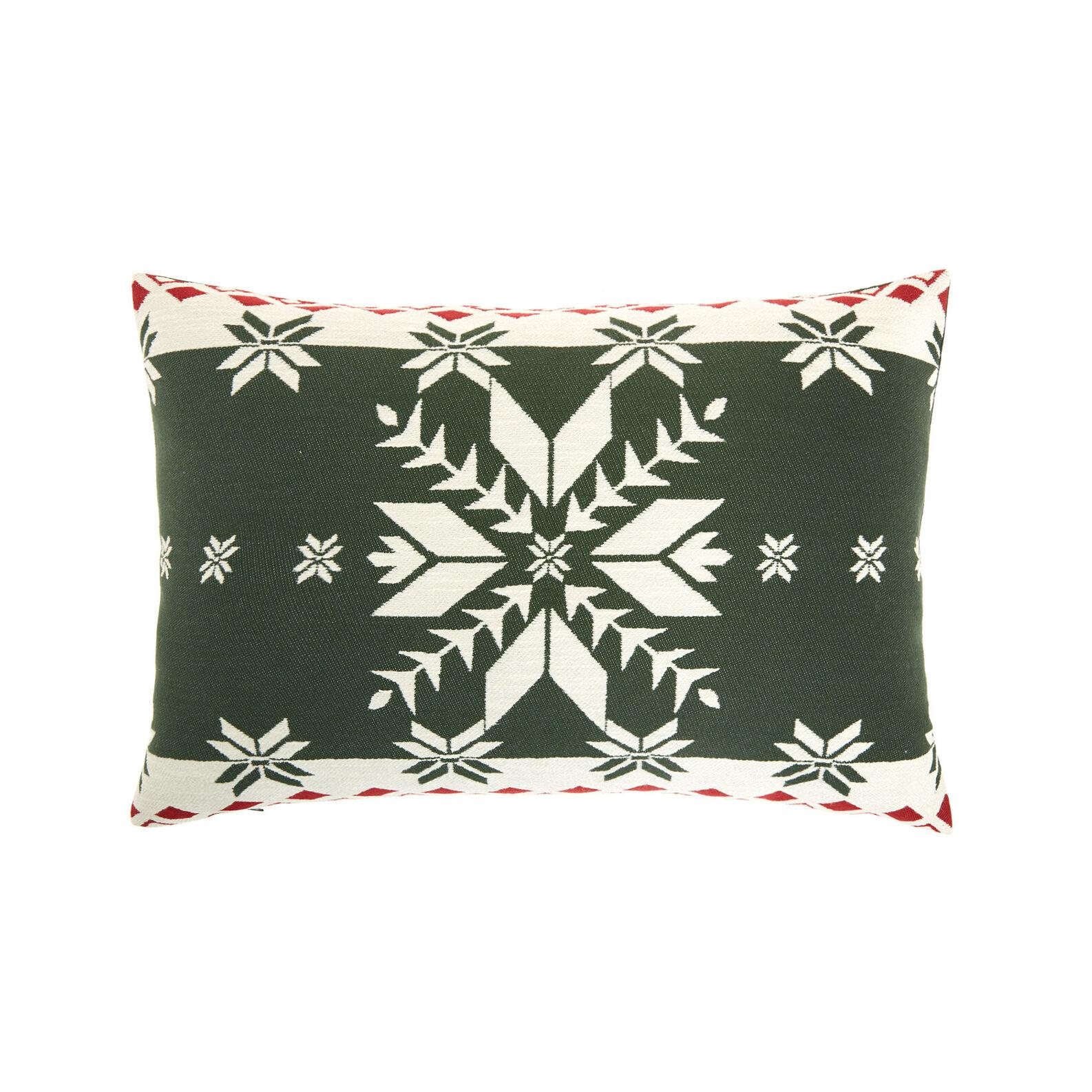 Jacquard cushion with Christmas motif 35x55cm