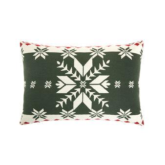 Cuscino jacquard motivo natalizio 35x55cm