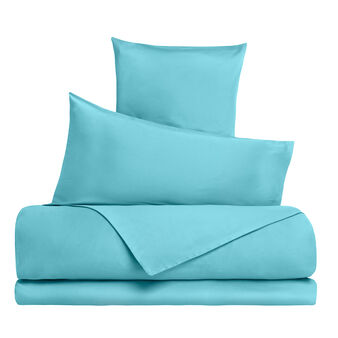 Solid colour cotton satin duvet cover set