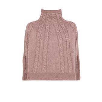 Koan diamond knit poncho scarf