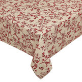100% cotton water-repellent tablecloth with round peppers print.