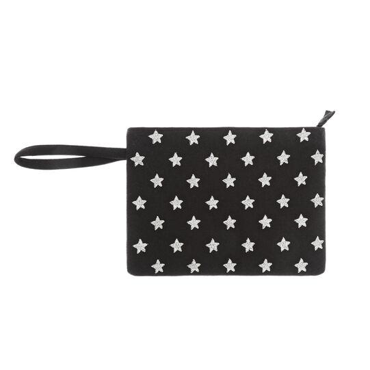 Star motif cotton beauty case