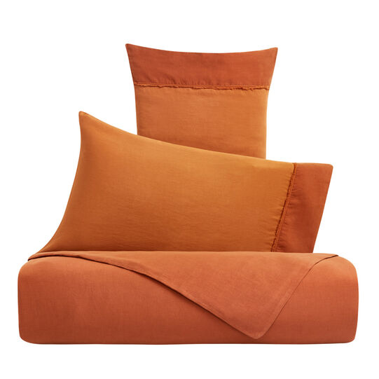 Solid colour duvet cover in cotton satin