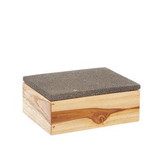 Handmade wood and stone box