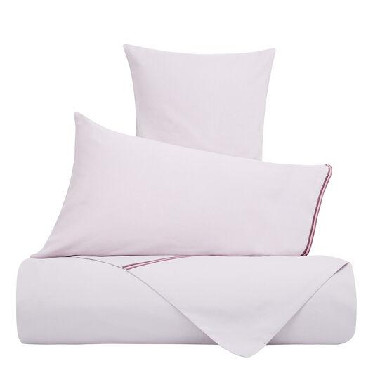Solid colour flat sheet in linen blend