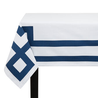 Cotton twill tablecloth with Greek print