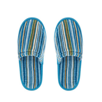 Striped terry slippers