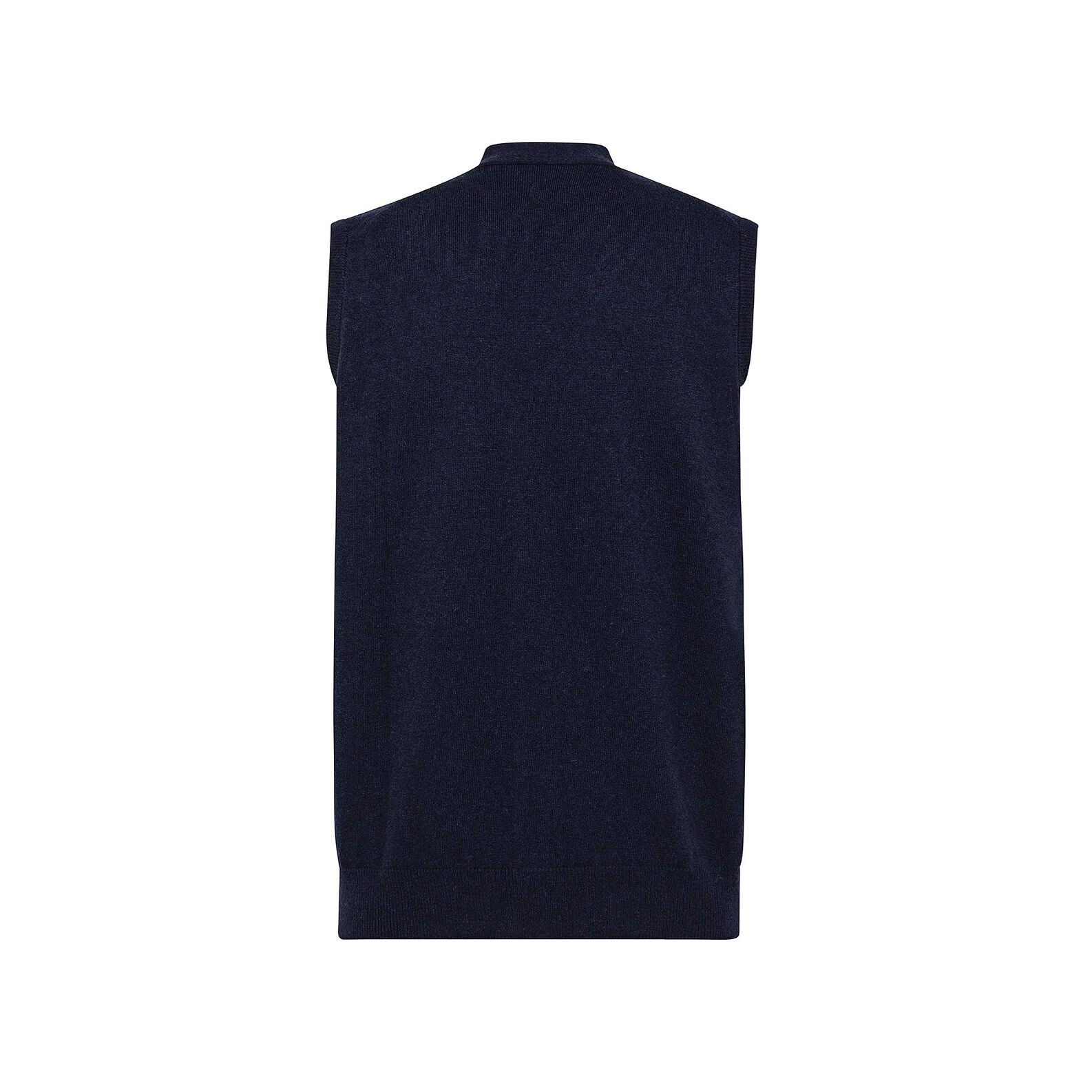 Solid colour gilet in cashmere blend