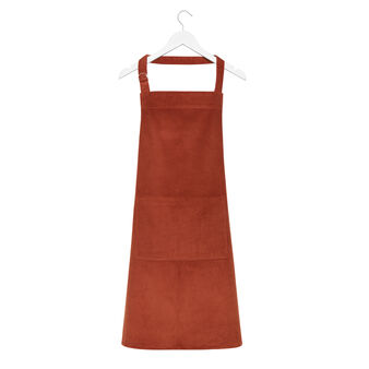 Solid colour velvet cotton apron