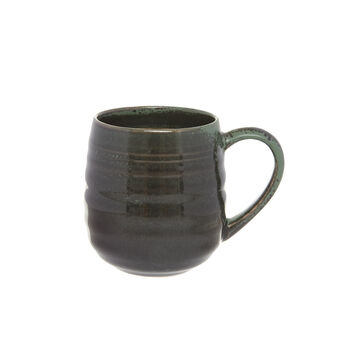 Stoneware mug with distressed effect