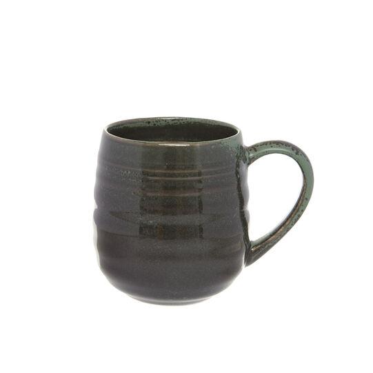 Stoneware mug with distressed effect